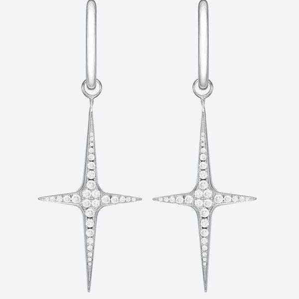 Diamond Cross Ohrringe