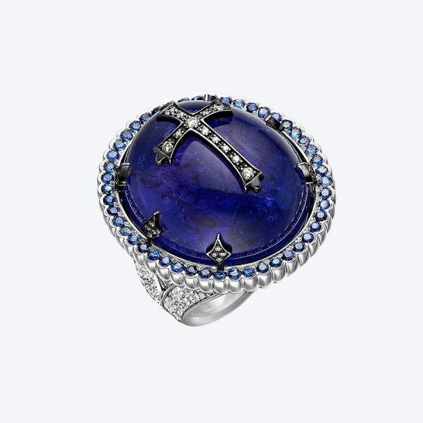 Gothic Tansanit Ring